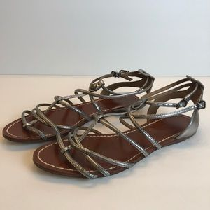 Antonio Melani silver sandals size 7